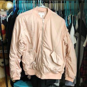 H&M Peach Bomber Jacket